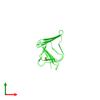 PDB 4s36 coloured by chain and viewed from the top.