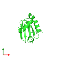 PDB 4wxt coloured by chain and viewed from the top.