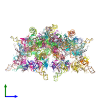 PDB 4wzj coloured by chain and viewed from the side.