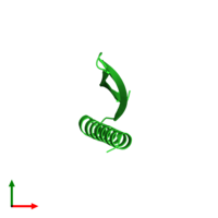 PDB 4xo1 coloured by chain and viewed from the top.