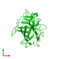 PDB 4xxp coloured by chain and viewed from the top.