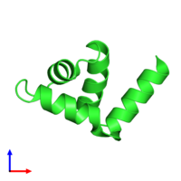 PDB 4zc3 coloured by chain and viewed from the front.