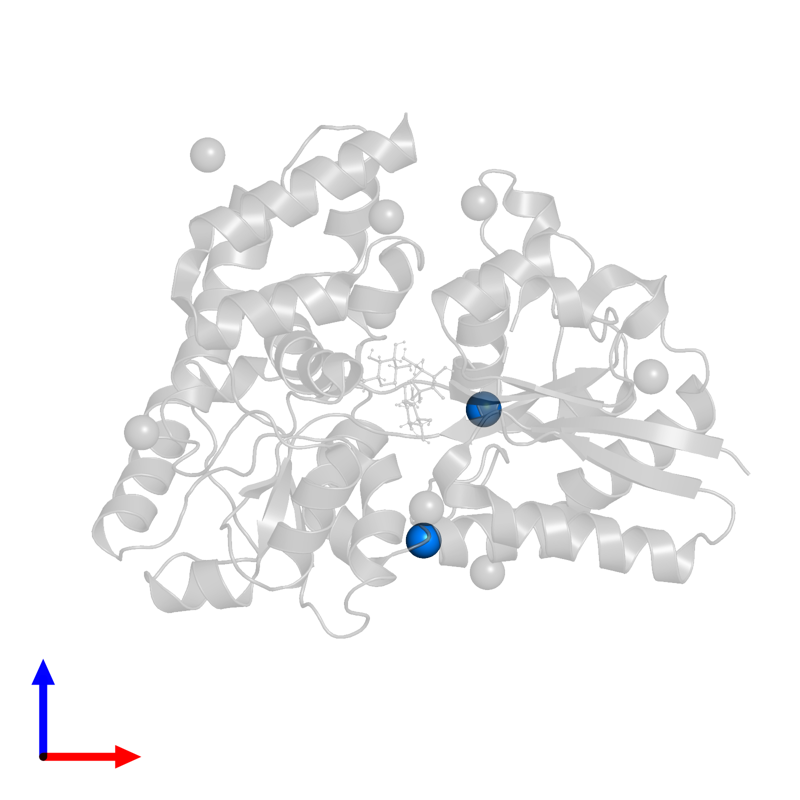 <div class='caption-body'>PDB entry 4zs9 contains 2 copies of CHLORIDE ION in assembly 2. This small molecule is highlighted and viewed from the front.</div>