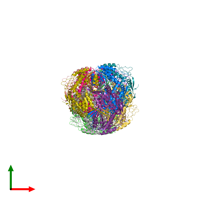 PDB 4zz7 coloured by chain and viewed from the top.