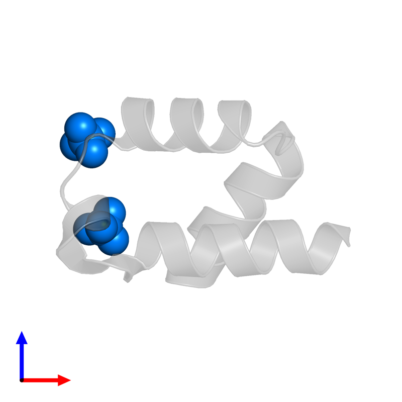<div class='caption-body'>PDB entry 5aon contains 2 copies of SULFATE ION in assembly 5. This small molecule is highlighted and viewed from the front.</div>