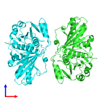 PDB 5c7l coloured by chain and viewed from the front.