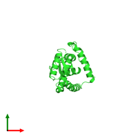 PDB 5e1w coloured by chain and viewed from the top.