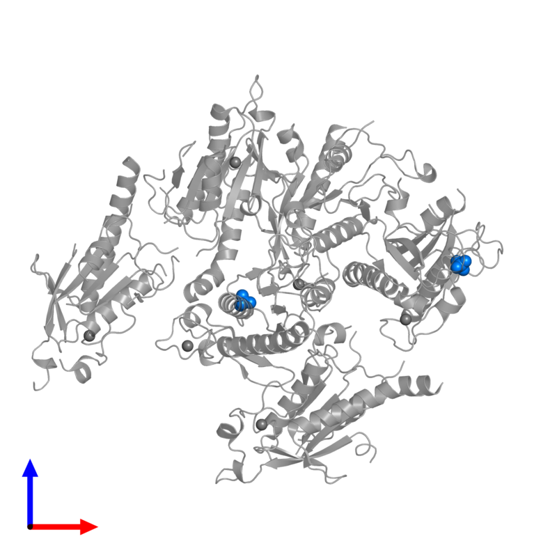 <div class='caption-body'>PDB entry 5gq1 contains 2 copies of PHOSPHATE ION in assembly 1. This small molecule is highlighted and viewed from the front.</div>