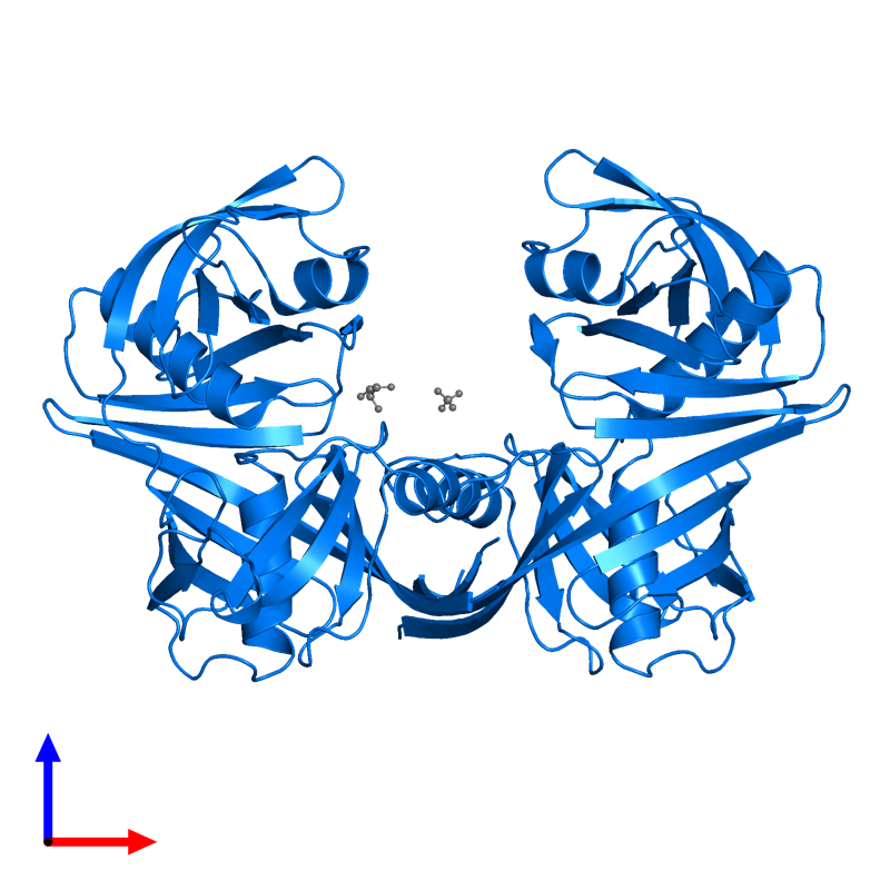 <div class='caption-body'>PDB entry 5h2g contains 2 copies of Diaminopimelate epimerase in assembly 1. This protein is highlighted and viewed from the front.</div>