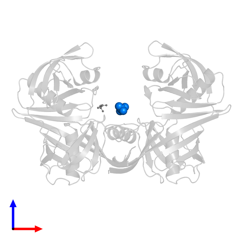 <div class='caption-body'>PDB entry 5h2g contains 1 copy of SULFATE ION in assembly 1. This small molecule is highlighted and viewed from the front.</div>