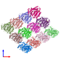 PDB 5jco coloured by chain and viewed from the front.
