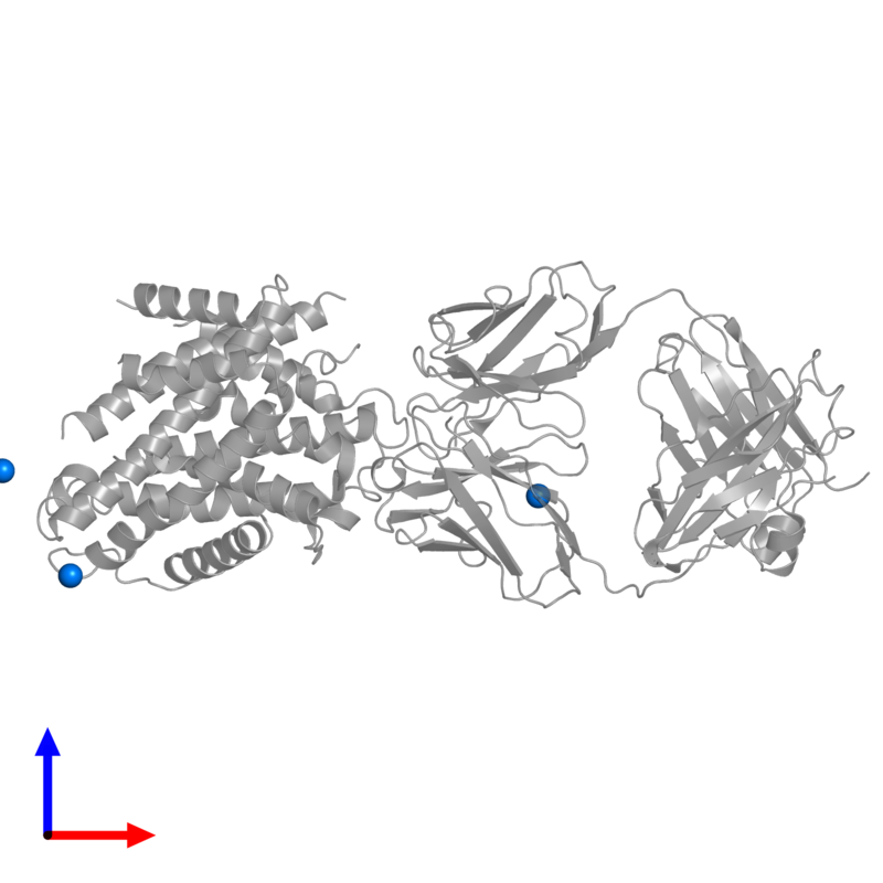 <div class='caption-body'>PDB entry 5kte contains 3 copies of OSMIUM ION in assembly 1. This small molecule is highlighted and viewed from the front.</div>
