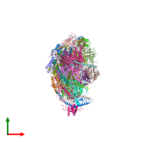 PDB 5ldx coloured by chain and viewed from the top.