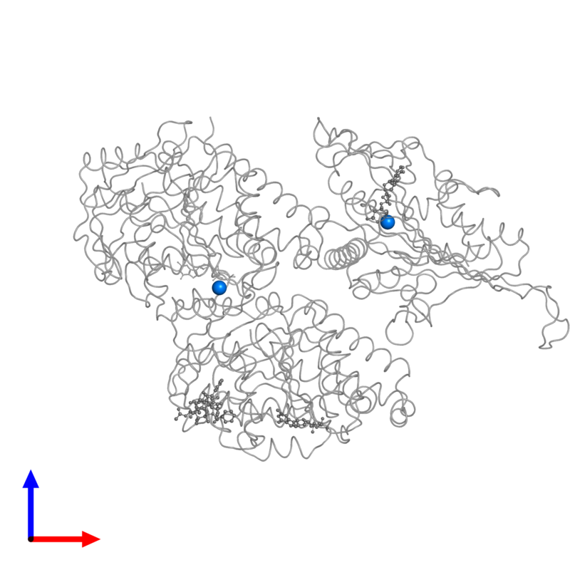 <div class='caption-body'>PDB entry 5m5i contains 2 copies of MAGNESIUM ION in assembly 1. This small molecule is highlighted and viewed from the front.</div>