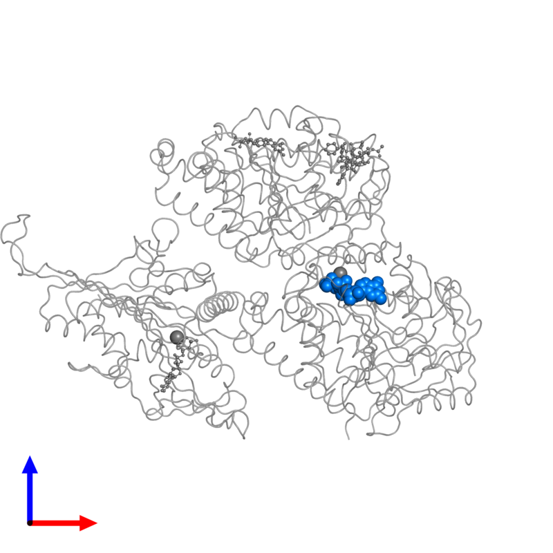 <div class='caption-body'>PDB entry 5m5i contains 1 copy of GUANOSINE-5'-TRIPHOSPHATE in assembly 1. This small molecule is highlighted and viewed from the front.</div>