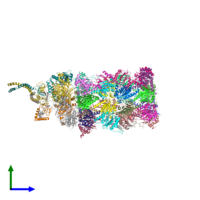 PDB 5mp9 coloured by chain and viewed from the side.