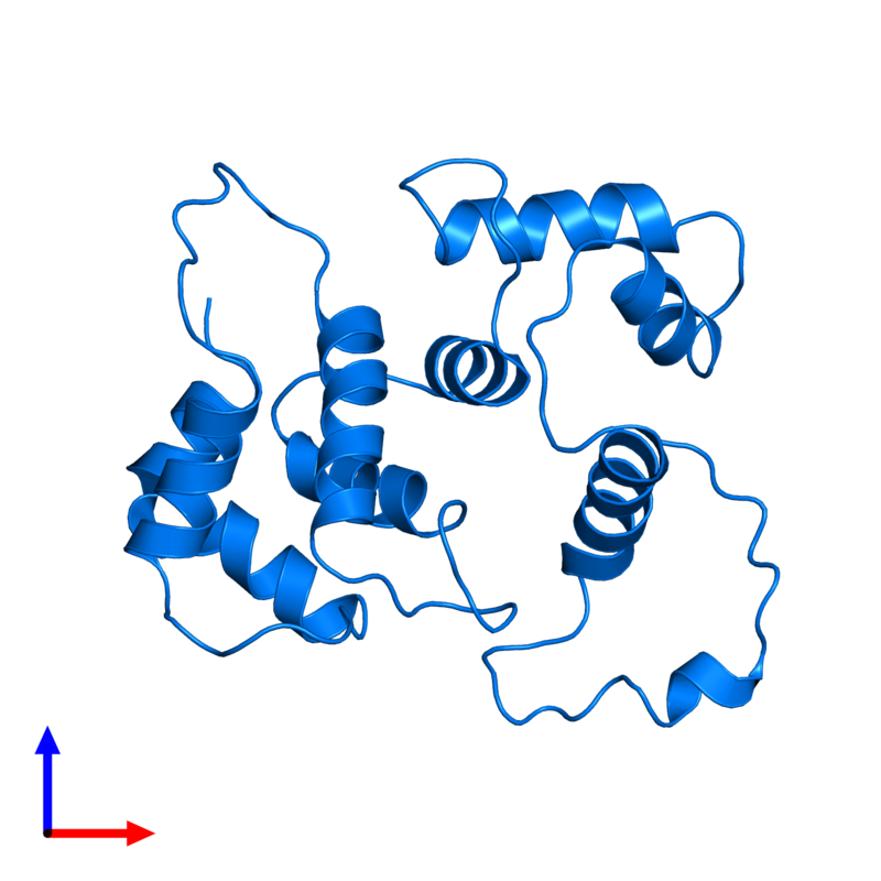 <div class='caption-body'>PDB entry 5t7c contains 1 copy of Hippocalcin-like protein 1 in assembly 1. This protein is highlighted and viewed from the front.</div>