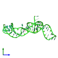 PDB 5tpy coloured by chain and viewed from the side.