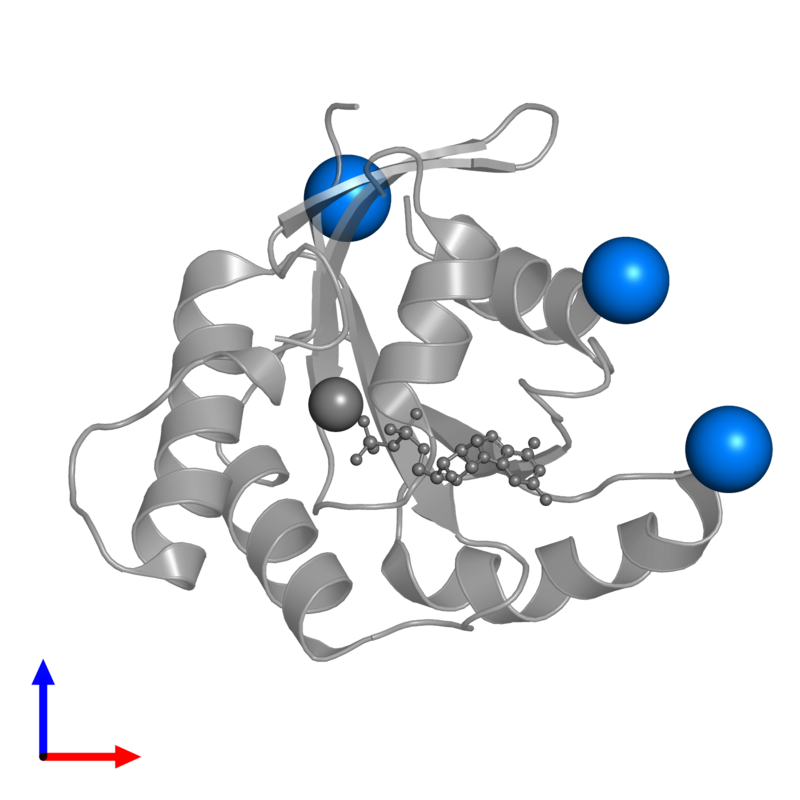 <div class='caption-body'>PDB entry 5x4b contains 3 copies of POTASSIUM ION in assembly 1. This small molecule is highlighted and viewed from the front.</div>