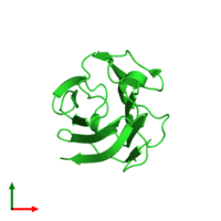 PDB 5xg7 coloured by chain and viewed from the top.