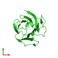PDB 5y03 coloured by chain and viewed from the top.