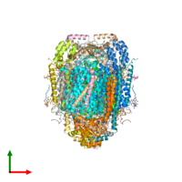 PDB 5zco coloured by chain and viewed from the top.