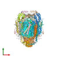 PDB 5zcp coloured by chain and viewed from the top.