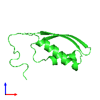 PDB 6ax5 coloured by chain and viewed from the front.