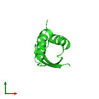 PDB 6ax5 coloured by chain and viewed from the top.