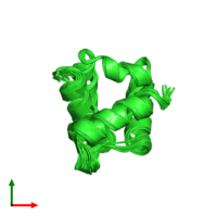 PDB 6ce5 coloured by chain and viewed from the top.