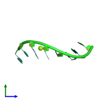 PDB 6d4l coloured by chain and viewed from the side.