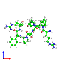Monomeric assembly 1 of PDB entry 6f3v coloured by chemically distinct molecules and viewed from the front.