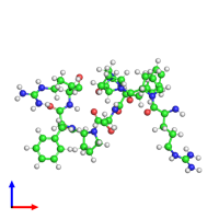 PDB 6f3v coloured by chain and viewed from the front.