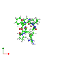 PDB 6f3v coloured by chain and viewed from the top.