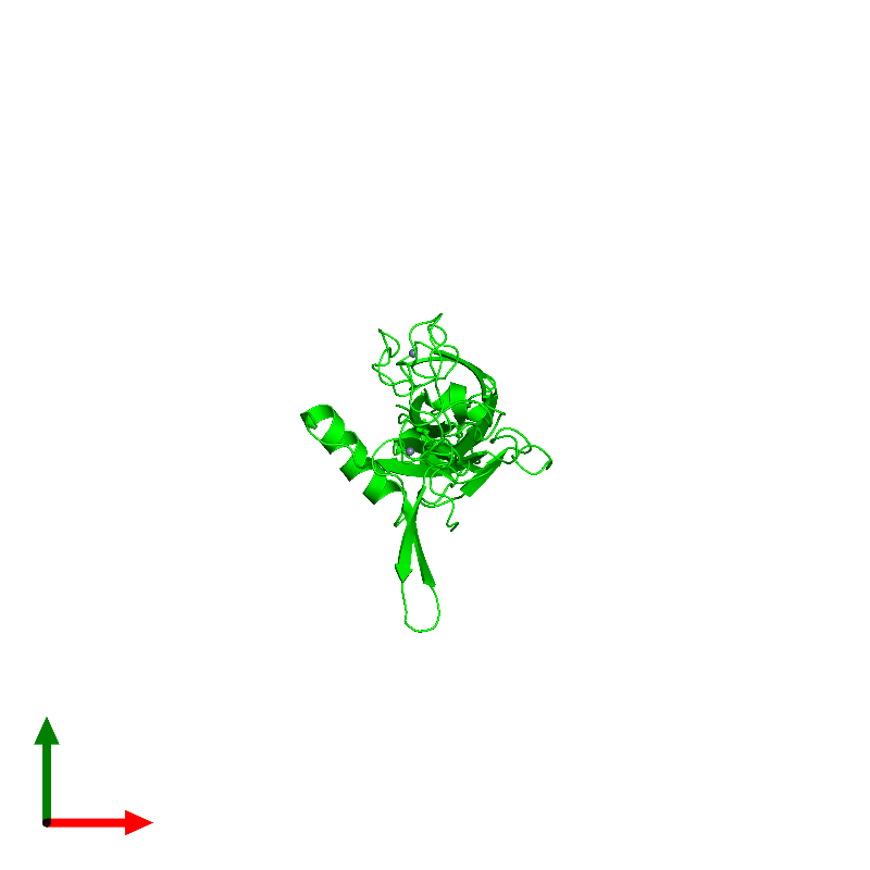 <div class='caption-body'><ul class ='image_legend_ul'> Monomeric assembly 1 of PDB entry 6jzb coloured by chemically distinct molecules and viewed from the top. This assembly contains:<li class ='image_legend_li'>One copy of Chaperone protein DnaJ</li><li class ='image_legend_li'>2 copies of ZINC ION</li></ul></div>