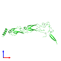 PDB 6jzb coloured by chain and viewed from the front.