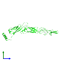 PDB 6jzb coloured by chain and viewed from the side.
