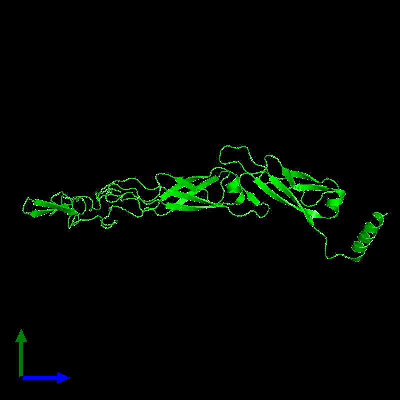 <div class='caption-body'><ul class ='image_legend_ul'>The deposited structure of PDB entry 6jzb coloured by chemically distinct molecules and viewed from the side. The entry contains: <li class ='image_legend_li'>1 copy of Chaperone protein DnaJ</li><li class ='image_legend_li'>There is 1 non-polymeric molecule<ul class ='image_legend_ul'><li class ='image_legend_li'>2 copies of ZINC ION</li></ul></li></div>