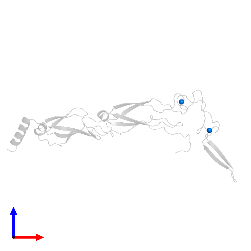 <div class='caption-body'>PDB entry 6jzb contains 2 copies of ZINC ION in assembly 1. This small molecule is highlighted and viewed from the front.</div>