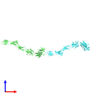 PDB 6m48 coloured by chain and viewed from the front.