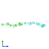 PDB 6m48 coloured by chain and viewed from the side.