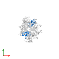 PDB 6pv8 contains 2 copies of Kappa Fab light chain in assembly 1. This protein is highlighted and viewed from the top.