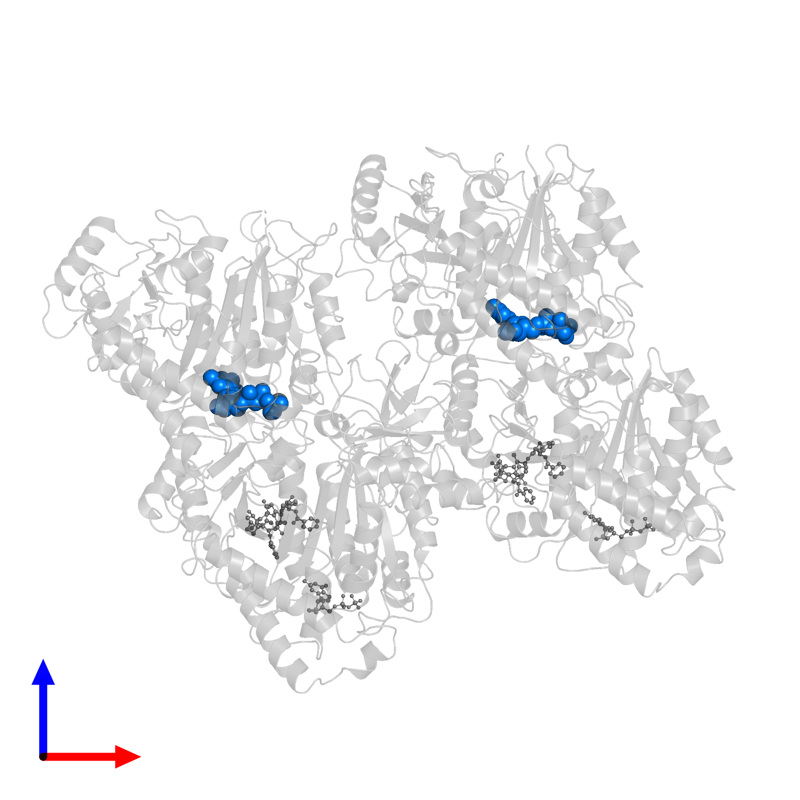 <div class='caption-body'>PDB entry 6quy contains 2 copies of GUANOSINE-5'-TRIPHOSPHATE in assembly 1. This small molecule is highlighted and viewed from the front.</div>