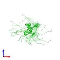 PDB 6qvw coloured by chain and viewed from the front.