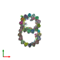 PDB 6u42 coloured by chain and viewed from the top.