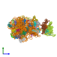 PDB 6vyt coloured by chain and viewed from the side.