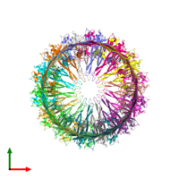 PDB 6w6m coloured by chain and viewed from the top.