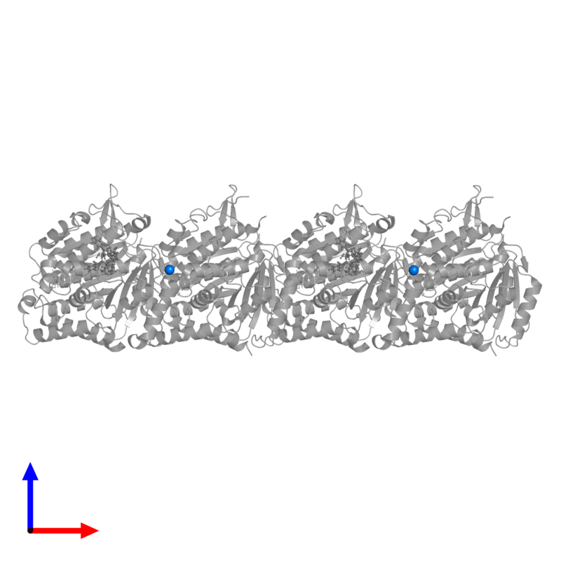 <div class='caption-body'>PDB entry 6wvr contains 2 copies of MAGNESIUM ION in assembly 1. This small molecule is highlighted and viewed from the front.</div>