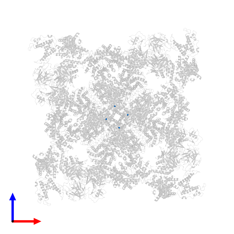 <div class='caption-body'>PDB entry 6x32 contains 4 copies of ZINC ION in assembly 1. This small molecule is highlighted and viewed from the front.</div>