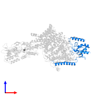 PDB 7bgy contains 1 copy of Potassium-transporting ATPase KdpC subunit in assembly 1. This protein is highlighted and viewed from the front.